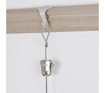 """STAS moulding hook + STAS steel cable with loop end 150 cm (59"""") + zipper"""