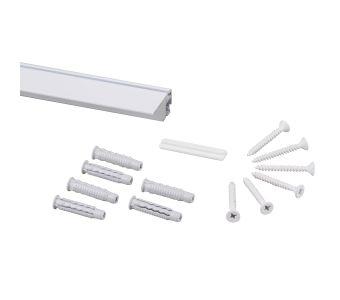 STAS prorail flat white + installation kit
