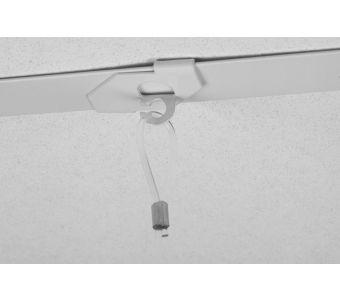 STAS drop ceiling hook for loop white