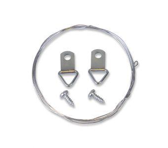 STAS d-ring screw hanger set with steel wire