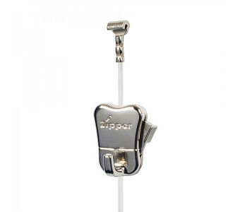 For loads up to 33 lbs: clear (perlon) cord with cobra end + STAS zipper hook