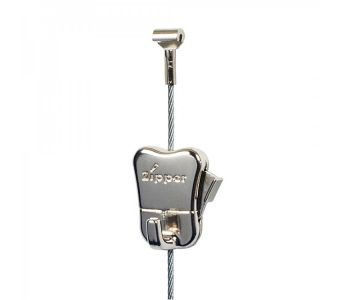 For loads up to 44 lbs: steel cable + STAS zipper hook