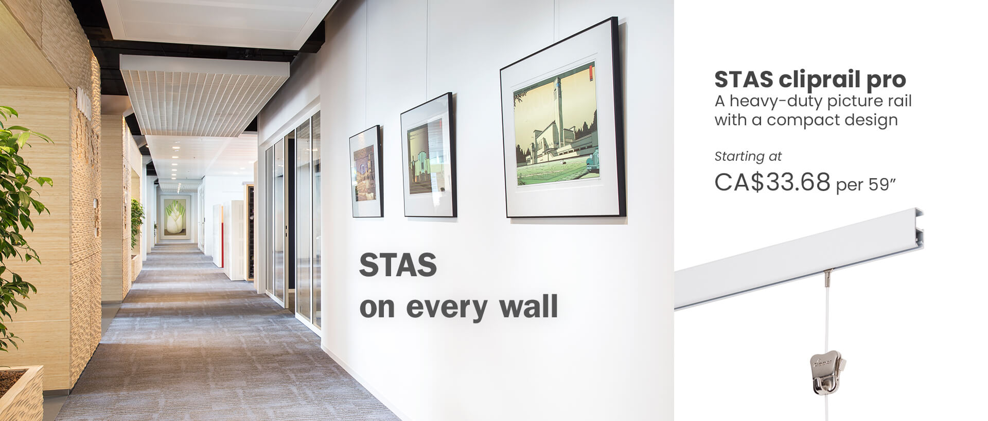 Art gallery hanging system